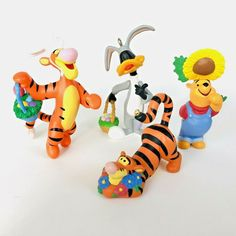 Disney Hallmark Easter Ornaments Winnie The Pooh Tigger Daffy Duck Warner Bros 4