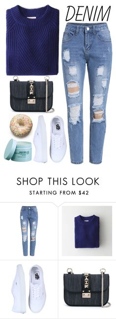 """""""Jean-ious Accessories // Street Style"""" by juliaalexsa ❤ liked on Polyvore featuring Demylee, Valentino and The Body Shop"""