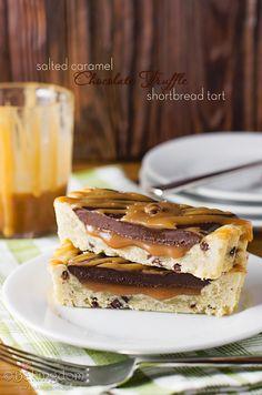 Salted Caramel Chocolate Truffle Shortbread Tart by ©Bakingdom