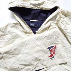 39f8c533f Vintage Polo Ralph Lauren P Wing Pullover Hoodie Parka Coat for sale! Tag  Size