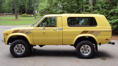 A classic backroad vehicle: A mid-'80s Toyota 4x4 truck. Though, I prefer an extended cab.