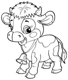 Coloring Cartoons Pdf Elegant Cartoon Cow Coloring Pages at Getcolorings Farm Animal Coloring Pages, Cartoon Coloring Pages, Coloring Book Pages, Sharpie Drawings, Cute Drawings, Sharpie Zeichnungen, Precious Moments Coloring Pages, Unicornios Wallpaper, Quiet Books