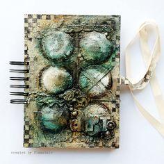Teabag Journal - cover  by finnabair, via Flickr