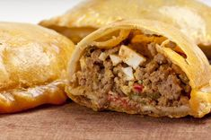 If You Love Empanada's You Have To Try This Amazing & Incredible Flavorful Version Made With Pork Chili! Empanadas are an easy and incredible meal to make probably because you can The Chew Recipes, Mexican Food Recipes, Cooking Recipes, Ethnic Recipes, Recipes From Spain, Spanish Recipes, Spanish Food, Biscuit Dough Recipes, Snacks