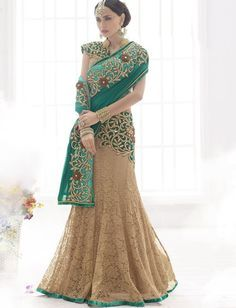 Rama Green Shade And Chiku Color Embroidery Work Lehenga $138.53 #rama #green #chiku #embroiderywork #lehengasaree #fastivallehengasaree #weddinglehengasaree #womenswear #womensclothes #indianstyle #fashionumang