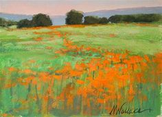 "Daily Paintworks - ""#47 Poppy path"" - Original Fine Art for Sale - © Nancy Wallace"