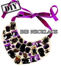 DIY Bib Necklace with Button – Top Easy Design Project From Famous Fashion Blog - DIY Craft (2)
