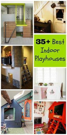 35+ Best Indoor Playhouses | @Remodelaholic .com .com #diy #indoor #home #playhouse #kids