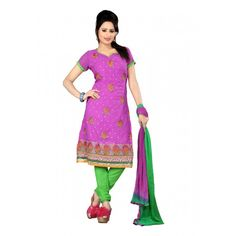 Description Reviews (0)  A perfect pick for this season, this gorgeous salwar suit and dupatta set from amazing fabrics will be a delight to wear. While the material quality ensures you are comfortable all throughout the busy day, the play of color and floral print goes well with the spirit of the season. The suit is sure to give sheer comfort as it features faux georgette on its top, American crepe bottom with Nylon Chiffon dupatta. Invent your own design and be ready to stand out!