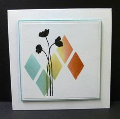 *CAS190 Harlequin Silhouette by hobbydujour - Cards and Paper Crafts at Splitcoaststampers