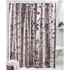 Kikkerland Shower Curtains, Birch $19.99 | www.houseables.com | #showercurtains #bathroom