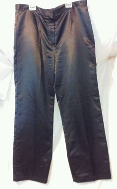 Womens Jaclyn Smith Black Shiny Holiday Lined Dress Pants Size 16 Halloween #JaclynSmith #DressPants