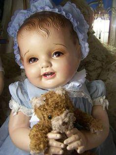 Antique composition doll.