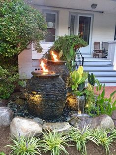 Feature (FIRE) Installation water feature fire installation ideas rochester ny acorn ponds, Addition of FIREThe Ponds The Ponds may refer to: Front Yard Garden Design, Front Yard Decor, Modern Front Yard, Small Front Yard Landscaping, Pond Landscaping, Landscaping With Rocks, Modern Landscaping, Yard Design, Landscaping Design