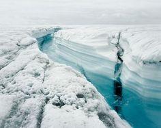 blue ice stream