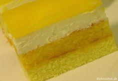 Fotorecept: Jarné sanquickové rezy Lebanese Recipes, Russian Recipes, Food Design, Kiwi, Baked Goods, Mousse, Jelly, Cheesecake, Deserts