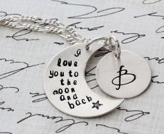 Personalized Necklace - Mom's Necklace - Sterling Name Necklace - Stamped Necklace