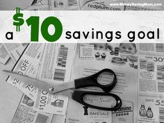 TAKING BABY STEPS, SAVING $10 IN COUPONS! I know that I could probably save more, but I think I will have better success with baby steps!