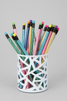 Geo Cutout Pencil Cup  #UrbanOutfitters
