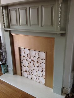 Idea for no fire 1930s Fireplace, Edwardian Fireplace, Painted Fire Surround, Paint Fireplace, 1930s House, Wood Burner, Fireplace Surrounds, Luxury Living, Painting On Wood