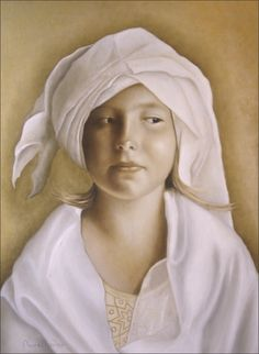 """Angelinn"" Painting by Nanne Nyander.  http://nannenyander.se"