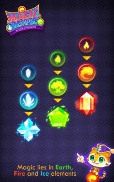 element game - ค้นหาด้วย Google Game Logo, Game Ui, Game Effect, Casual Art, 2d Game Art, Game Title, Match 3, Game Icon, Game Concept