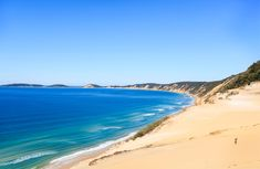 Gympie-Rainbow Beach, sunshine coast From its white powder beaches to majestic hinterland and heritage towns, the Gympie region is a 7000 square kilometre adventure playground.