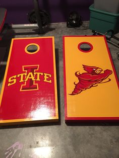 Iowa State Cyclones boards for the happy couple