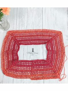 Crochet Mat, Crochet Jumper, Crochet Poncho Patterns, Crochet Hook Sizes, Cotton Crochet, Easy Crochet, Stitch Patterns, Crochet Summer Tops, Double Crochet