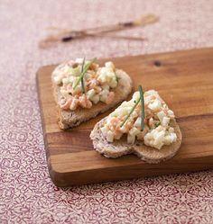 Toasts coeurs au saumon fumé et pomme granny - les meilleures recettes de cuisine d'Ôdélices