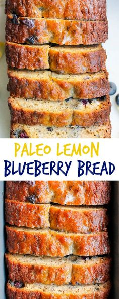 Paleo Lemon Blueberry Bread - This Paleo Lemon Blueberry Bread is a quick and easy paleo bread recipe that's perfect for Spring! #grainfree #glutenfree #paleodessert
