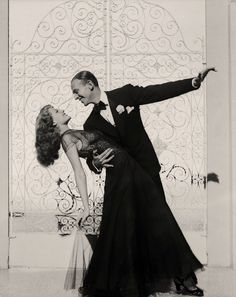 """Fred Astaire and Rita Hayworth-""""I don't make love by kissing, I make love by dancing."""" — Fred Astaire"""