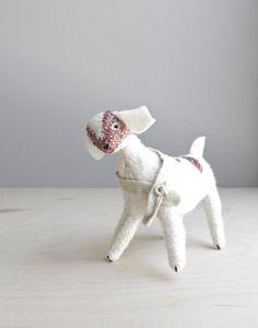 helpful farm goat / soft sculpture animal by ohalbatross on Etsy, $78.00