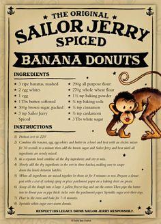 The Original Sailor Jerry Spiced Rum Banana Donuts