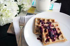 Coconut Waffles (GF/V) ~ The Skinny Weigh | Food | Pinterest | Waffles ...