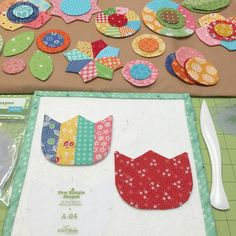 Bee In My Bonnet: Sew Simple Shapes - Patchwork Tulip Tutorial with More Leaves and Flowers!!!