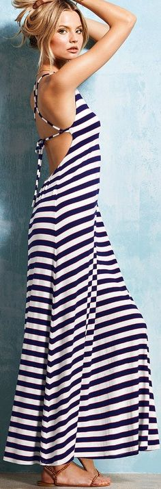Stripes never looked so spectacular!  From Victoria's Secret.