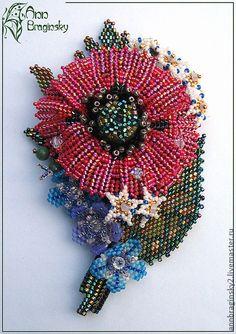 Ann Braginsky Exclusive цветок ндебеле,листья мозаикой