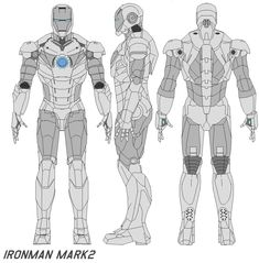 ironman mark 2 Live-action film Officially released image of the film's final version of the suit. Three types of Iron Man armor appear in the ironman mark 2 armor Iron Man 3, Iron Man Mark 2, Iron Man Armor, 3d Model Character, Game Character Design, Character Modeling, Character Art, Iron Man Cosplay, Marvel Comic Universe