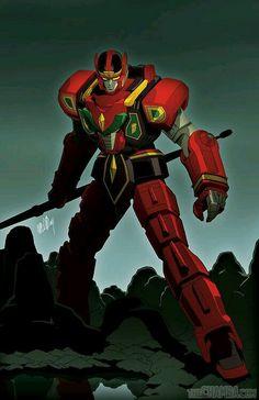 Red dragon thunder zord warrior mode