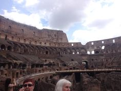Inside the Colusseum at Rome