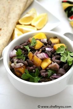 Mexican styled Black Beans with Mango Recipe