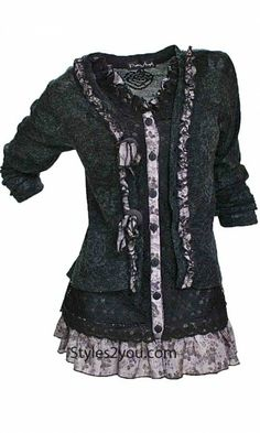 JUST IN... HURRY AND GET YOURS...Pretty Angel Clothing Layered Victorian Tunic…