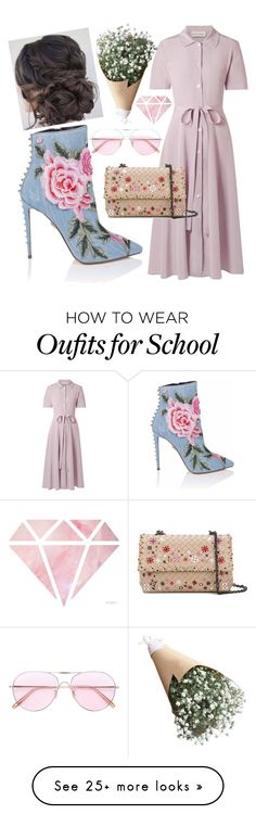 """""""Old-school Upscale"""" by modestycontinued on Polyvore featuring Mansur Gavriel, Oliver Peoples, Bottega Veneta, modern and vintage"""
