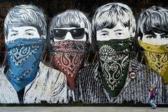 Street art in London: MBW streetart graffiti mural 3d Street Art, Murals Street Art, Urban Street Art, Amazing Street Art, Street Art Graffiti, Street Artists, Urban Art, Banksy Graffiti, Les Beatles