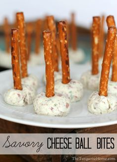 Mini Savory Cheese Ball Bites