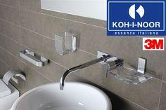 #Accessori ad #incollo KOH-I-NOOR Si applicano senza forare con #adesivo #3M. L'#adesivo garantisce un'#eccezionale #tenuta anche a temperature estreme e in #ambienti #umidi. Acquistabili online su www.italiarredo.eu  #KohINoor #EssenzaItaliana #design #Top #Quality #MadeInItaly #Bathroom