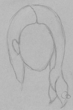 Sketch Hair Drawing of hair in less than 60 seconds Sweet Drawings, Cool Art Drawings, Pencil Art Drawings, Easy Drawings, Animal Drawings, Drawing Sketches, Long Hair Drawing, Book Drawing, Easy Pictures To Draw