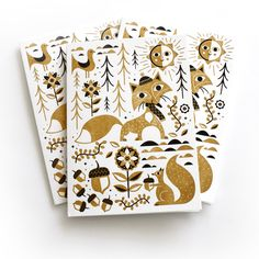 NEW 2013 Letterpress Holiday card set by Tad Carpenter Creative