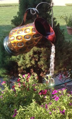Watering Can, crystal - multi-strand crystal Deluxe